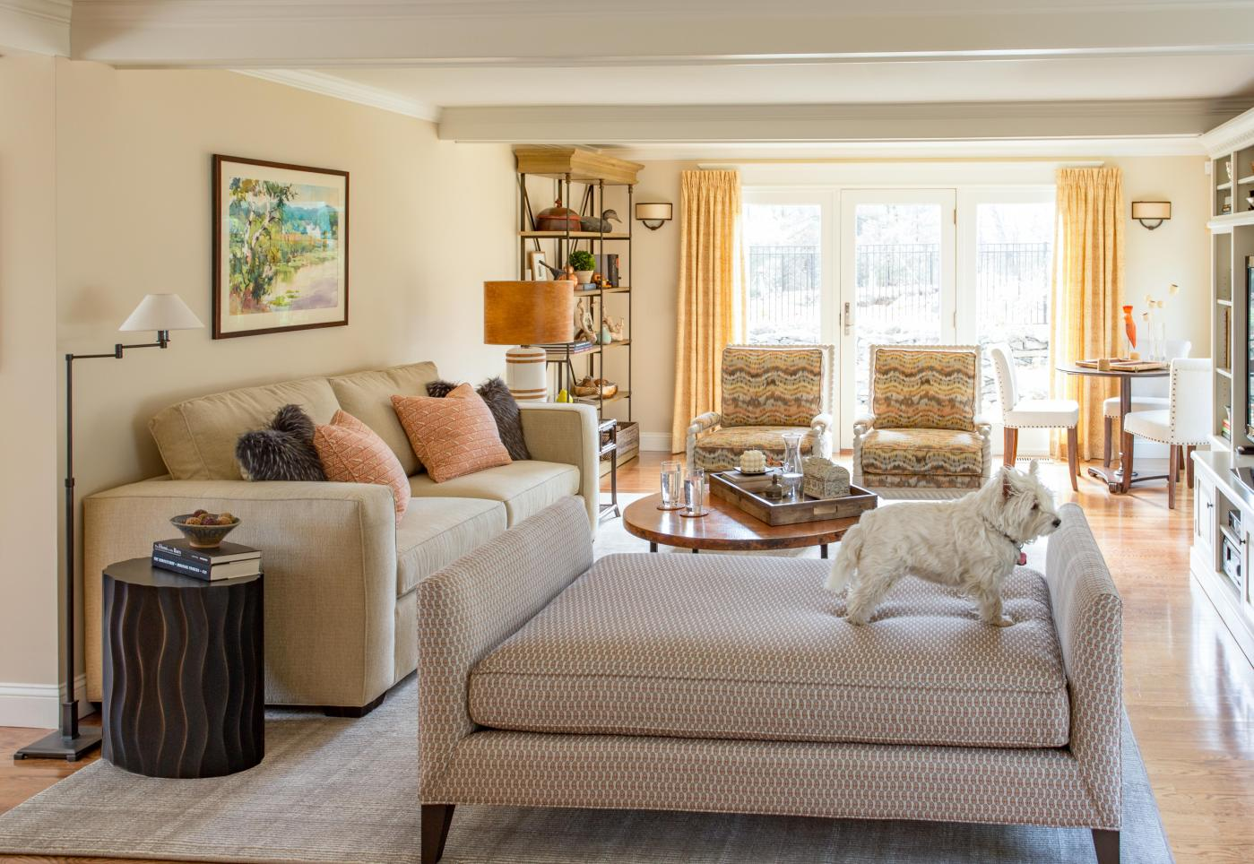 Project Reveal: Brown Moves Down, A Home Lights Up   Kelly Rogers Interiors   Interiors for Families