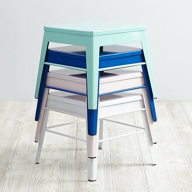 Friday Family-Friendly Find: Land of Nod Squared Up Step Stool | Interiors for Families