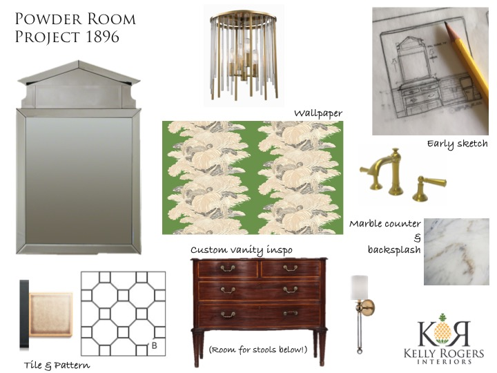 Day 133: Project 1896 (Our Home Renovation) - Special Powder Room Edition | Kelly Rogers Interiors | Interiors for Families