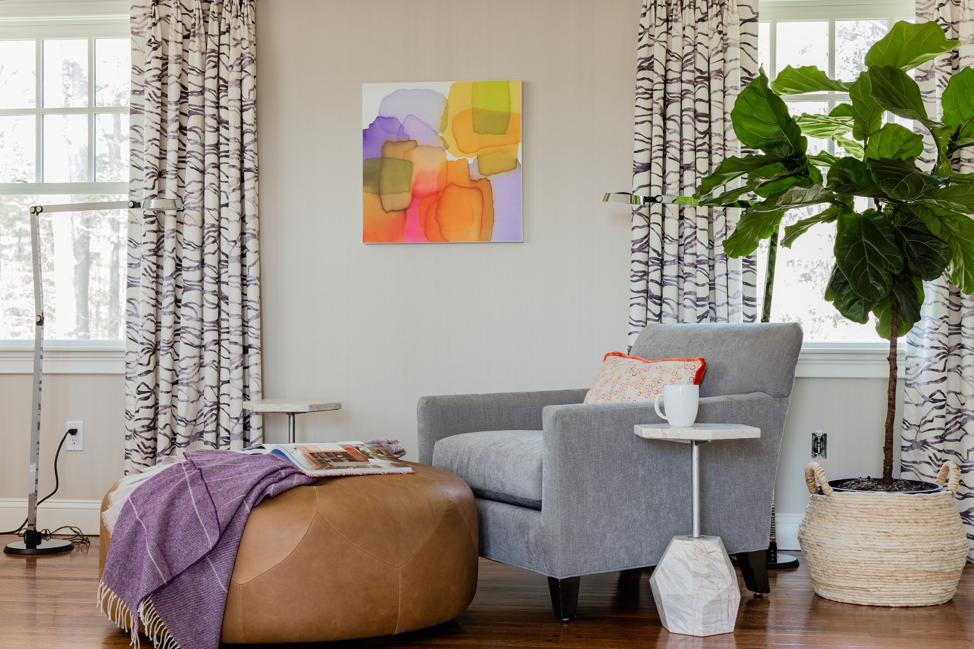 One Room Challenge Week 6: Bold Serene Bedroom REVEAL - Photoshop Chair Magic | Kelly Rogers Interiors