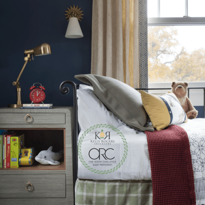 One Room Challenge Fall 2018 REVEAL | American Evolution Big Boy Bedroom | Kelly Rogers Interiors