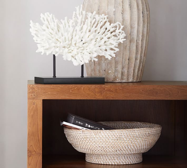 Friday Family-Friendly Find: Pottery Barn Tava Handwoven Rattan Decorative Bowl | Interiors for Families | Blog of Kelly Rogers Interiors