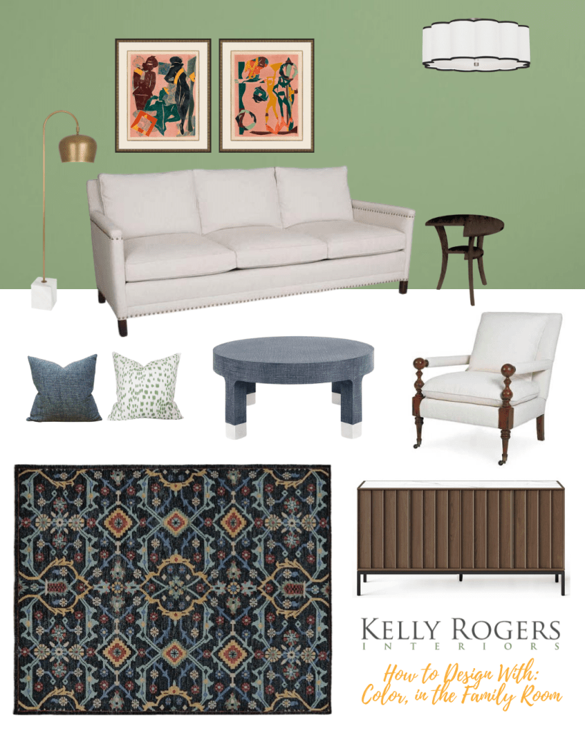 How to Design With: Color, In Your Family Room | Interiors for Families | Blog of Kelly Rogers Interiors