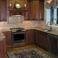 Kitchen Backsplash Murals Island Designs For Small Kitchens Whos Afraid Of Pink Beige Interiors Families