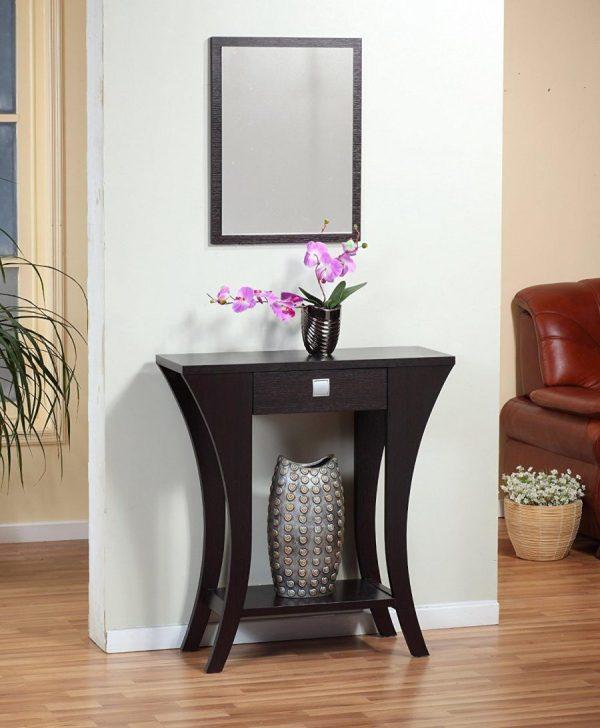 Narrow Entryway Table Idea