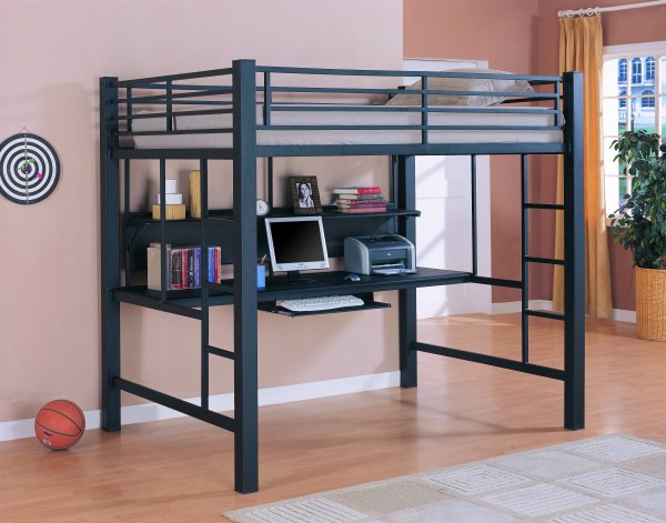 Full Size Loft Bed With Desk Evade Space Concerns