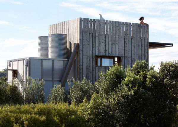 Iš nedidelio kotedžo išvaizda Naujojoje Zelandijoje