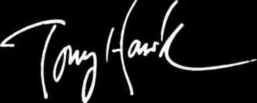 Tony Hawk Logo B&W