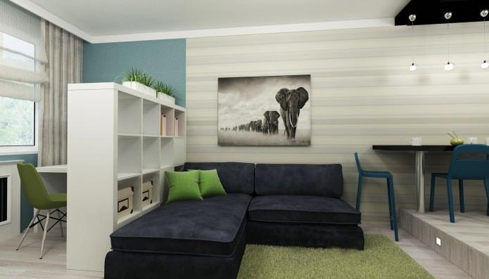 дизайн интерьера маленькой квартиры 3