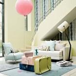 Pale pastel living room