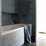 Stone-clad bathroom