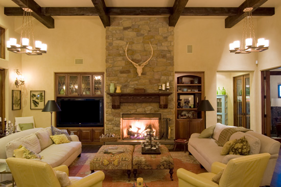living room decorating ideas with stone fireplace covers for furniture interiorstonefireplace installing a in guarantees that your guests will see it bedroom add needed warmth and cozy