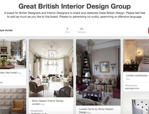 Great British Interior Design Pinterest Group