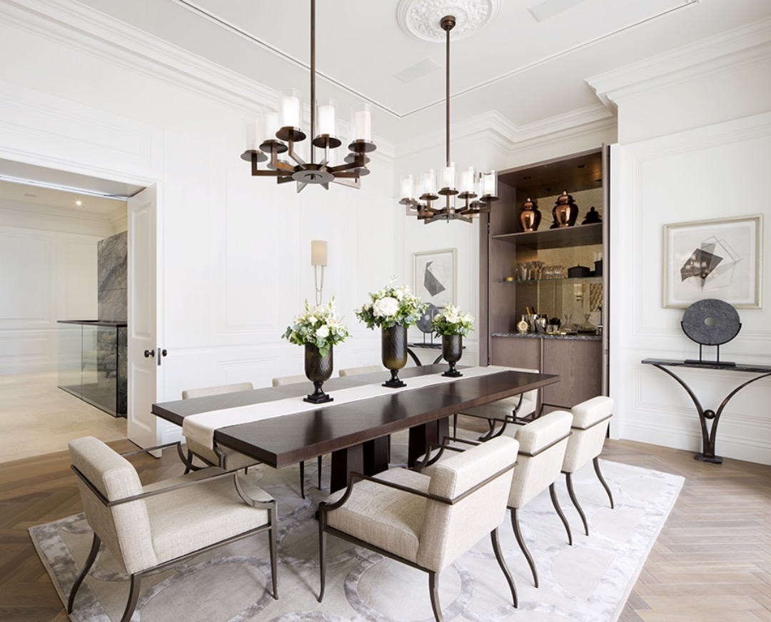Tour of a georgian apartment in mayfair designed by 1508 for Interior design firms london