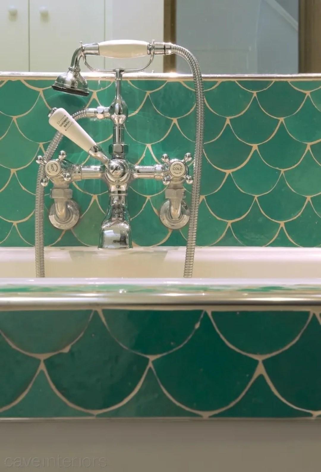 Gloucester Crescent bathroom tiles