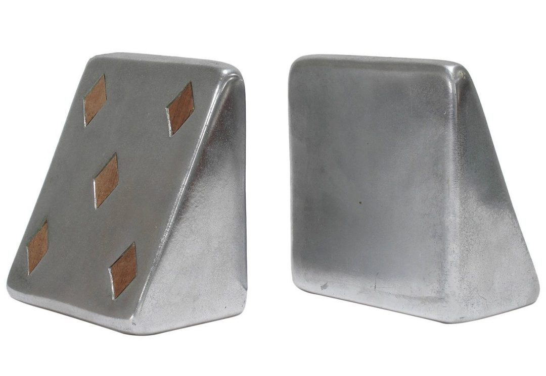 Silver Bookends by Ben Seibel