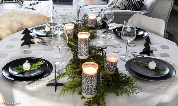 gedekte tafel kerst
