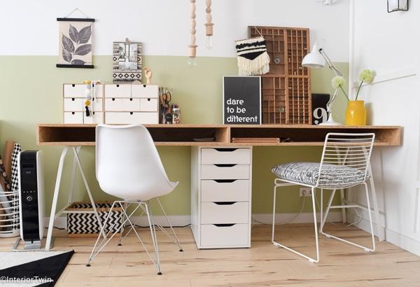 ikea zelfgemaakt bureau