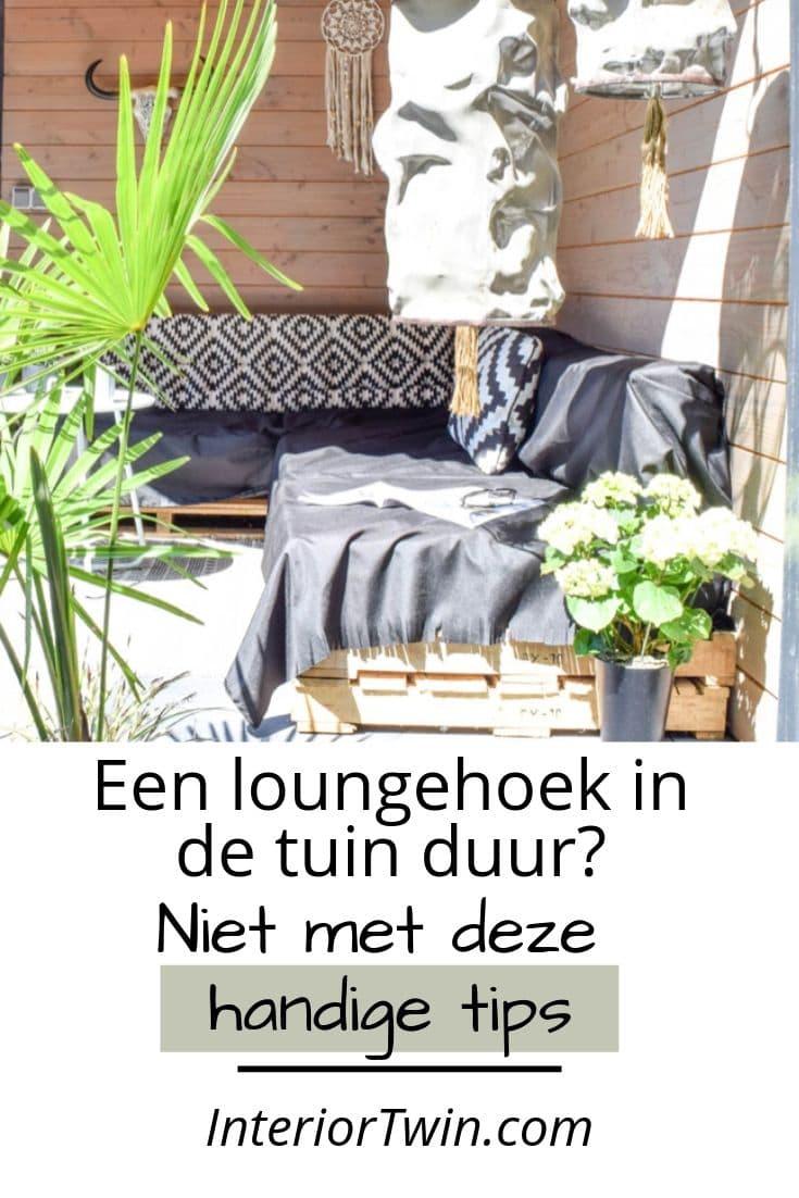 een loungehoek in de tuin duur? niet met deze handige tips