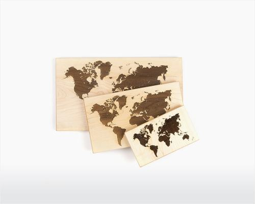 Wooden World Map - InteriorTwin