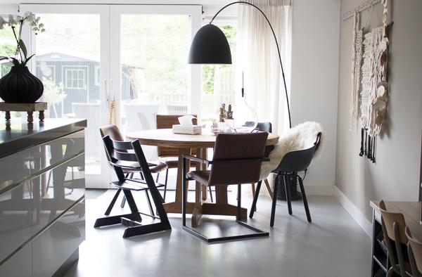 Ronde Eethoek Tafel : Ronde eettafel keuken interiortwin