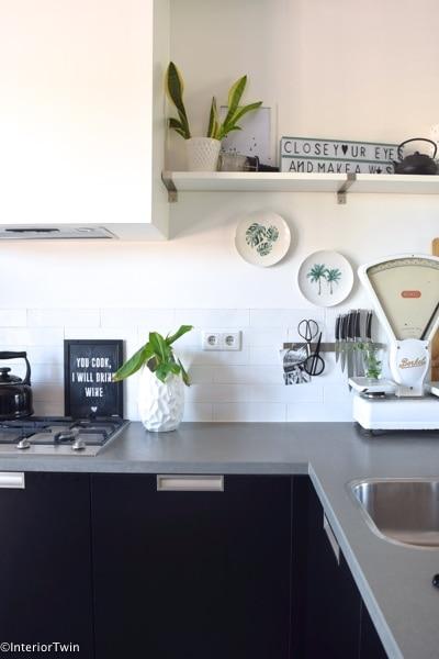 wandbordjes in keuken