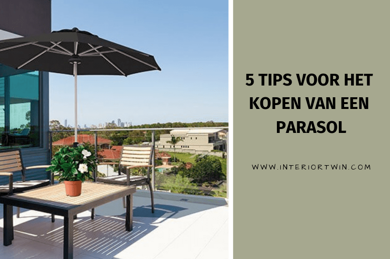 5 tips voor het kopen van een parasol: zwevende hangparasol, parasoldoek, muurparasol of tuinparasol?