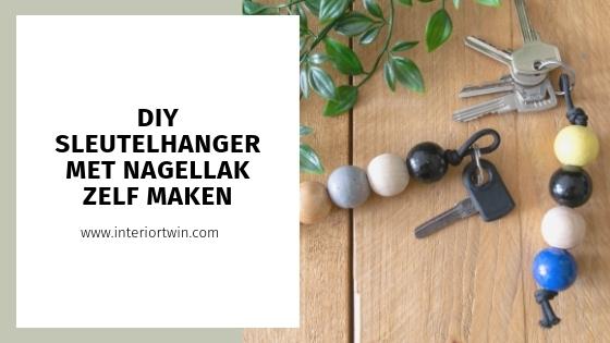 diy sleutelhangers houten ballen