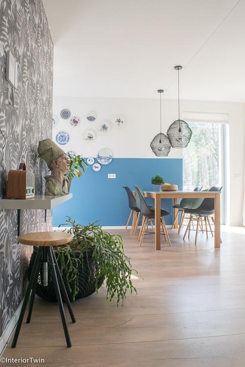 doorkijk kleurrijke woning groen blauw