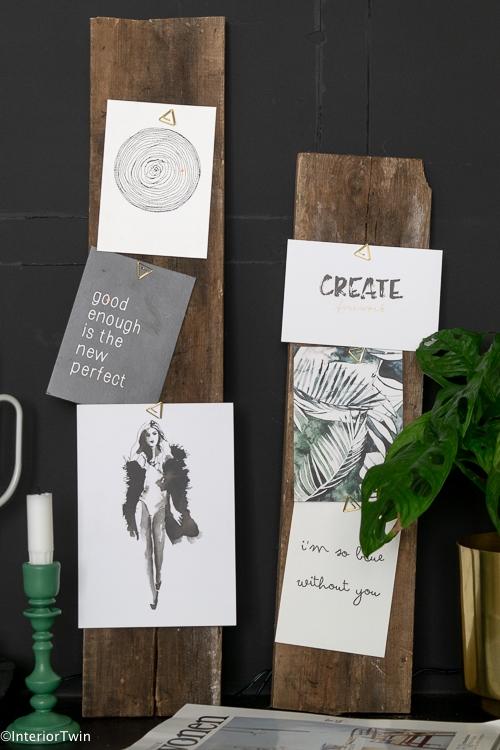 diy houten plank als display voor fotos
