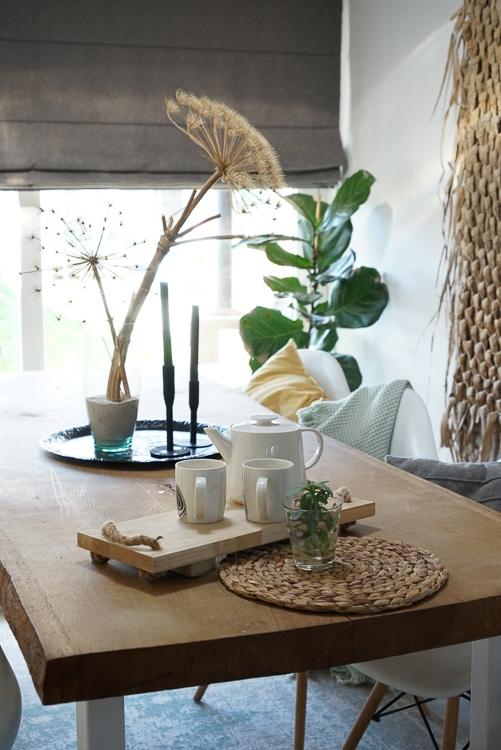 eettafel eiken houten blad @thuis_in_huis