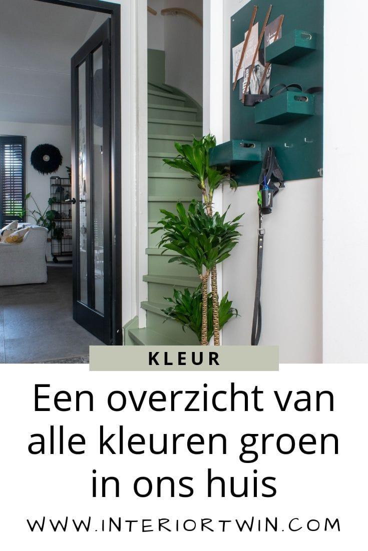 een overzicht van alle kleuren groen in huis