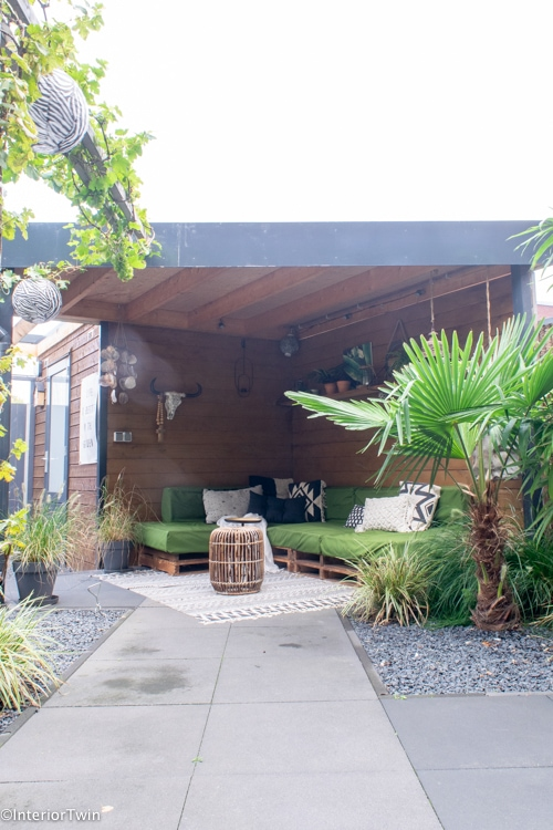overkapping in kleine tuin ideeen