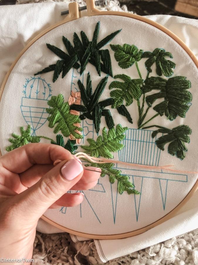 borduren diy wanddecoratie