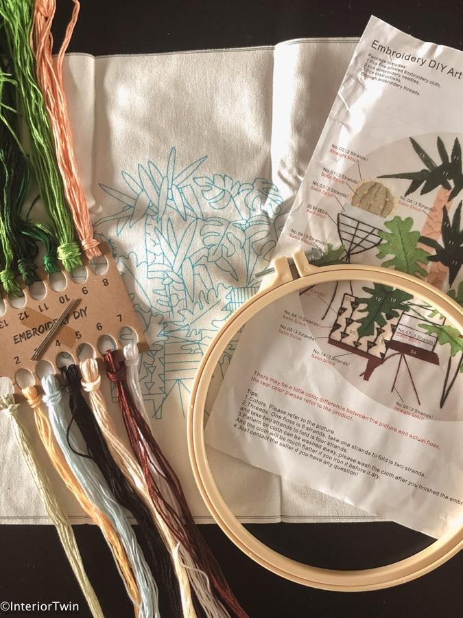 borduursets planten voor beginners