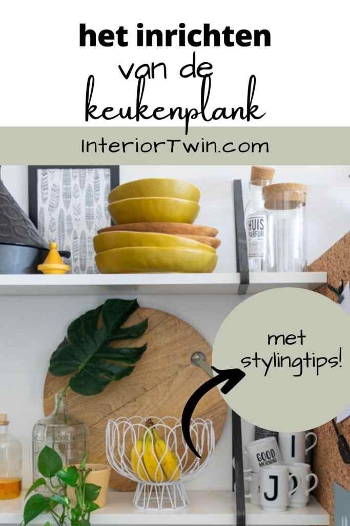 inrichten van de keukenplank
