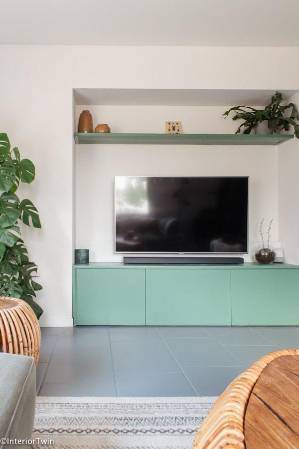 tv meubel op maat groen spar histor