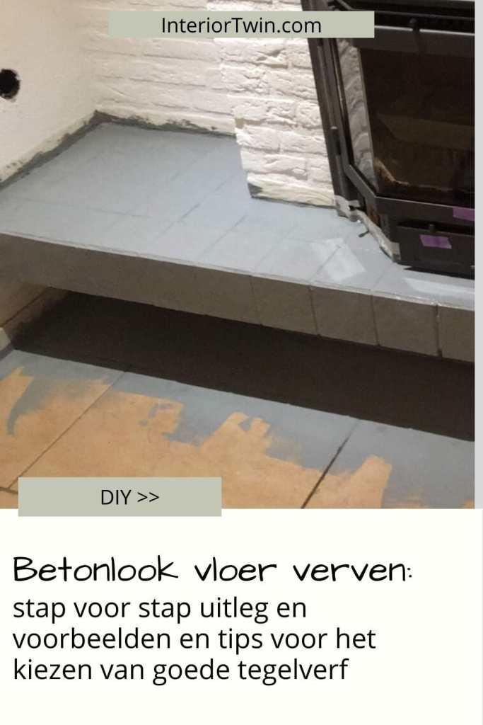 betonlook vloer verven uitleg en voorbeelden tegelverf