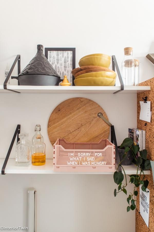 hema kratjes met quotes en letterteksten keuken
