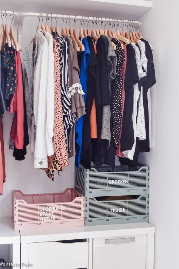 hema letterkratjes kledingkast opbergbakken