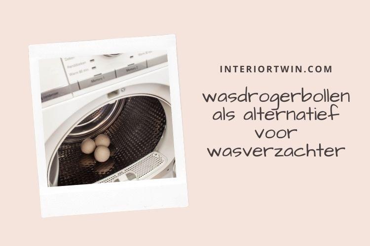 wasdrogerbollen als alternatief voor wasverzachter