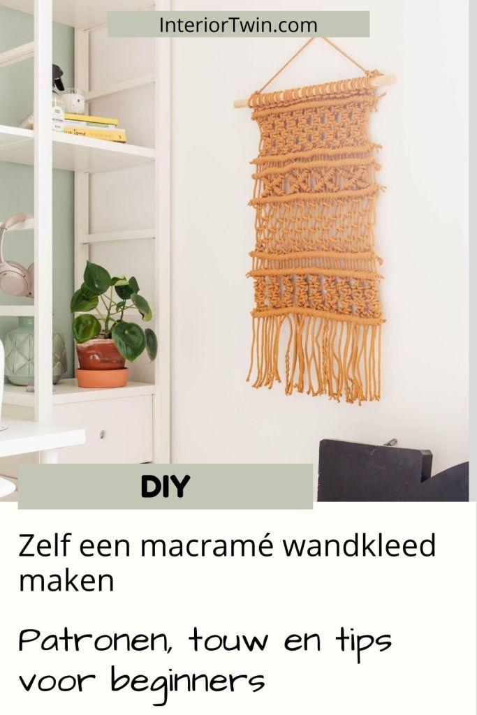 macrame wandkleed tips patronen en touw