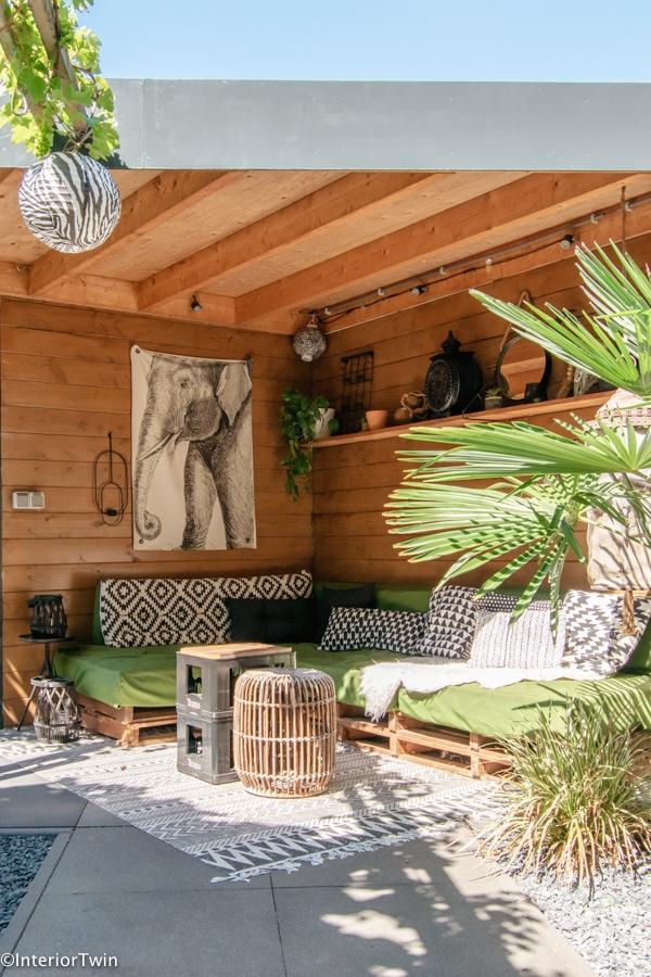 sierkussens loungemeubel tuin