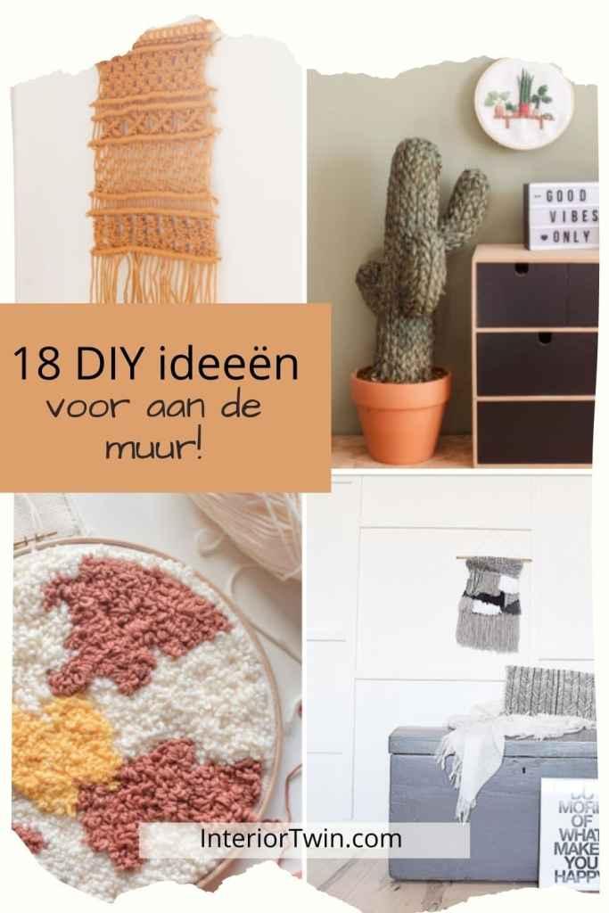 18 diy ideeën voor aan de muur