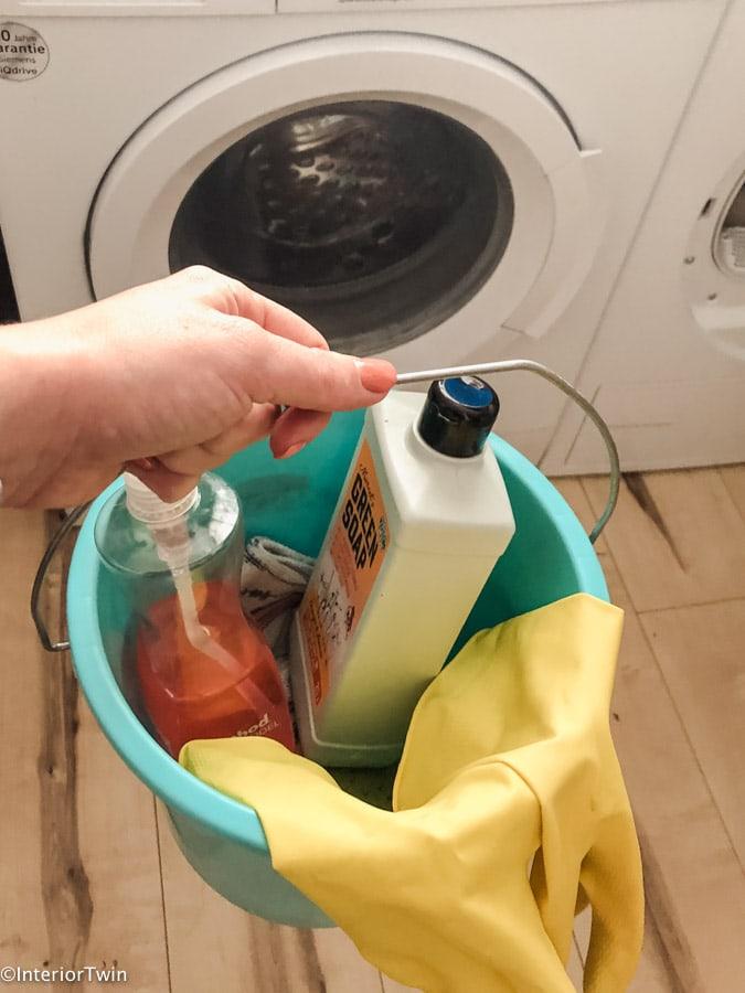 wasmachine reinigen stappenplan