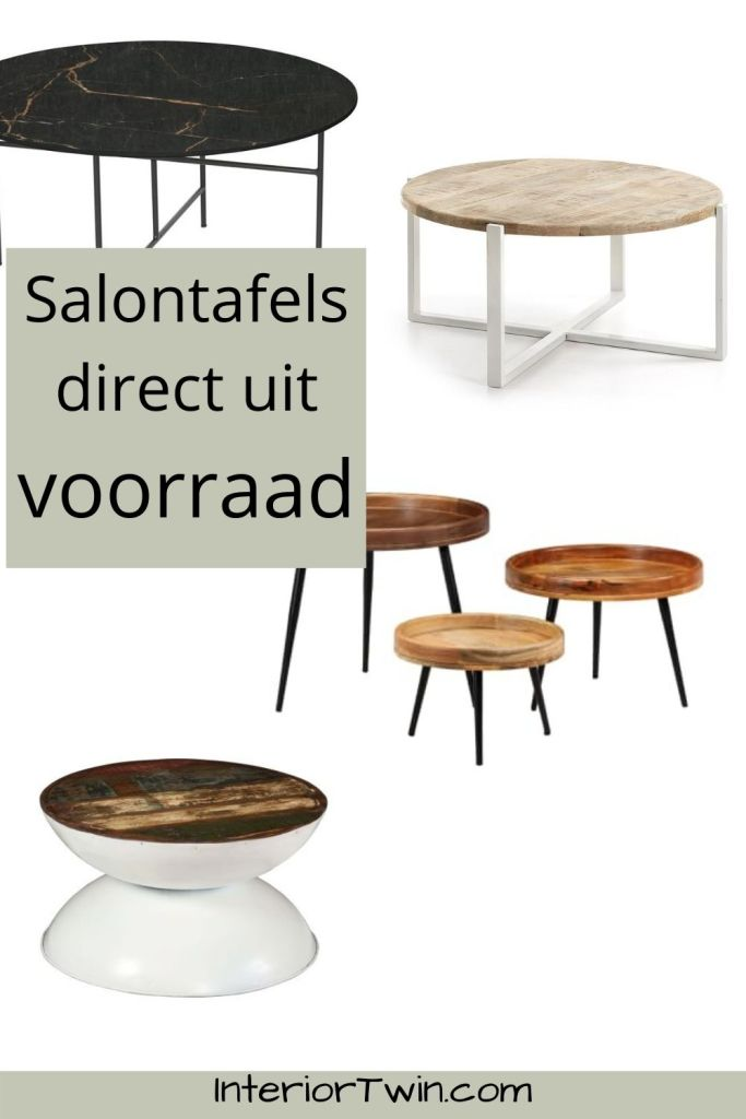 ronde salontafels uit voorraad