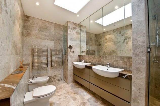 Beautiful Modern Beige Bathroom Vanity Designs Interior
