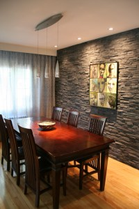 Exquisite Dining Rooms with Stone Walls - Interior Vogue