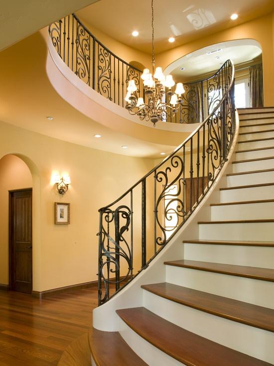 Splendid And Classy Mediterranean Staircase Designs