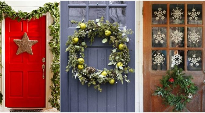 41 Cool And Classy Christmas Door Decoration Ideas